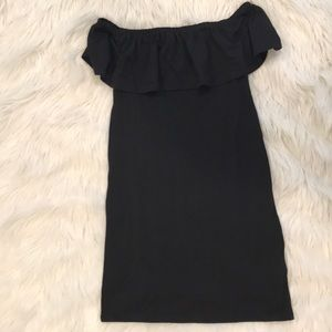 Black off the shoulder summer dress